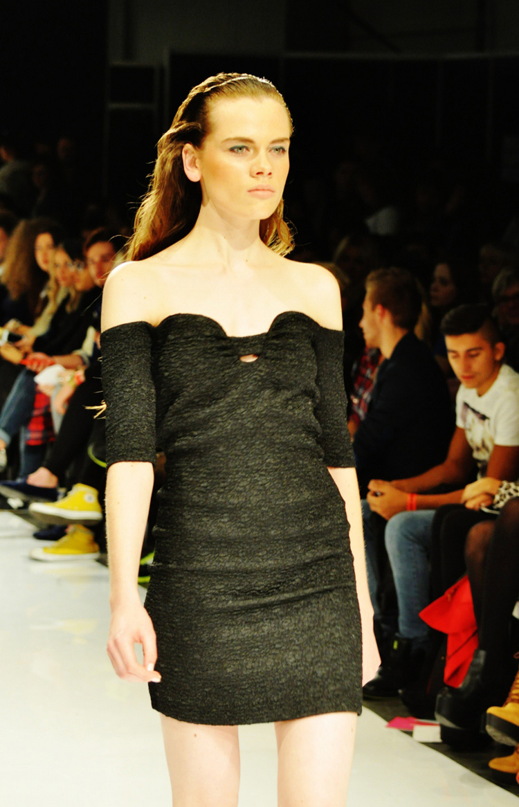 warsaw fashion week little black dress