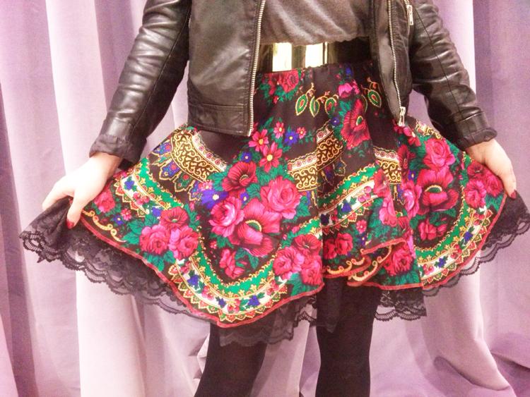 folkowa spódnica
