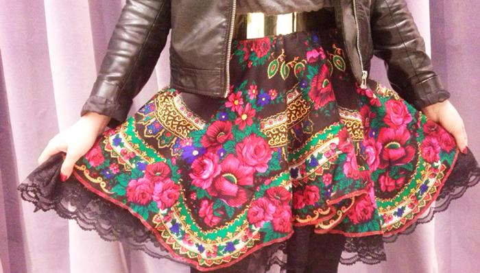 folkowa spódnica cleo