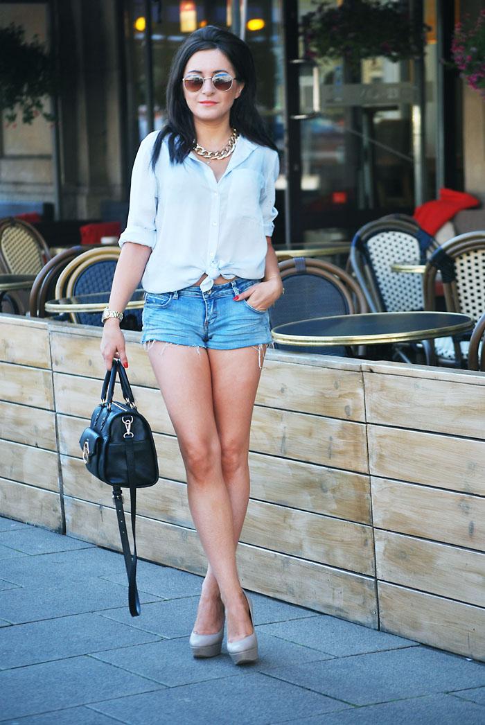 Szorty porwane jeansowe