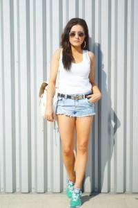 szorty jeansowe h&m