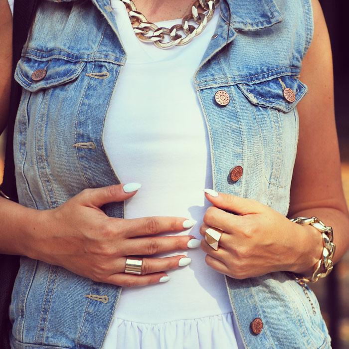 Kamizelka jeansowa h&m