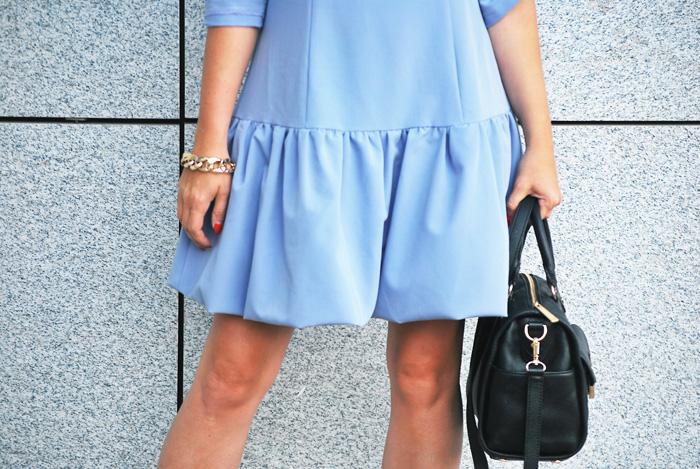 sukienka jak la mania niebieska