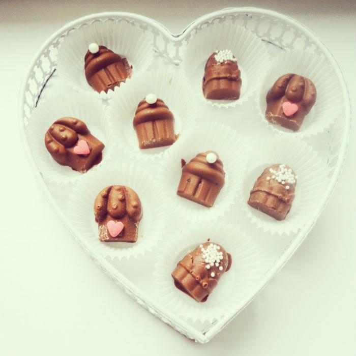 Pralinki z czekolady ręcznie robione
