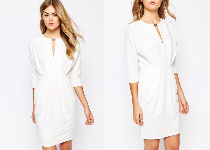 biała sukienka river island