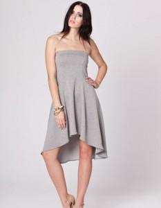 elegancka szara sukienka