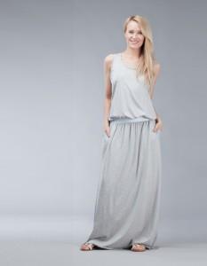 maxi szara sukienka
