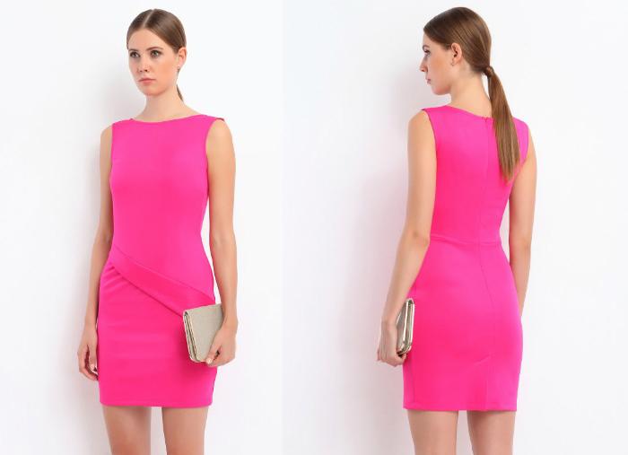 różowa neonowa sukienka top secret