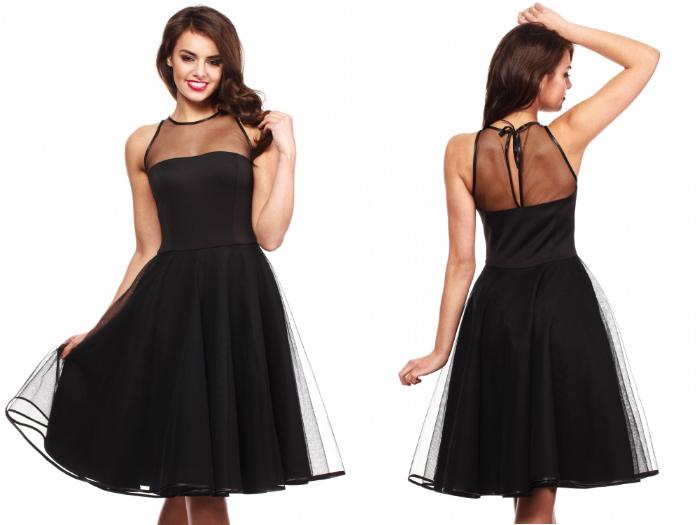 sukienka czarna na wesele 2015