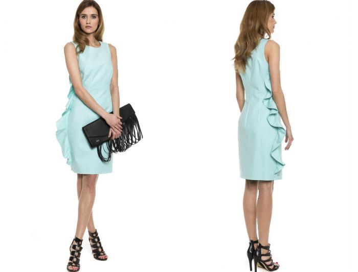 sukienka niebieska simple