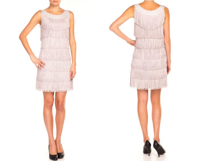 sukienka z frędzlami bialcon