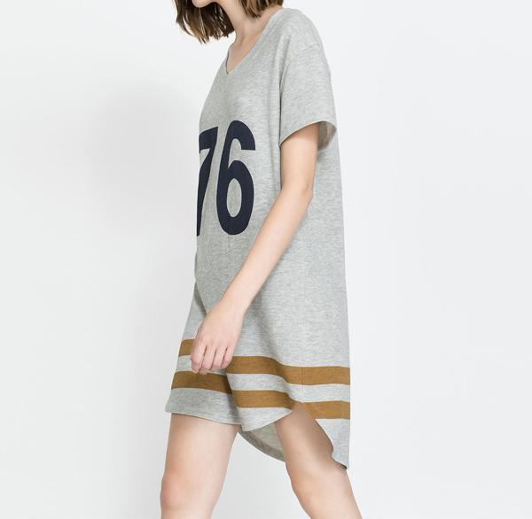 szara sportowa sukienka
