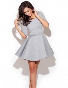 szara sukienka rozkloszowana