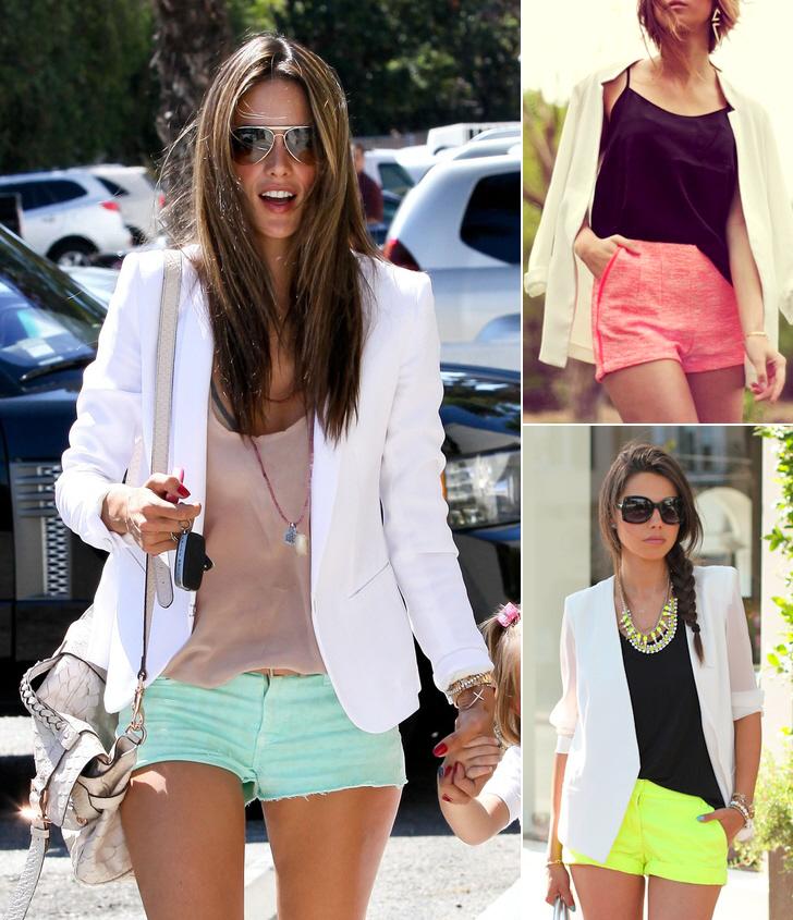 white-blazer-shorts