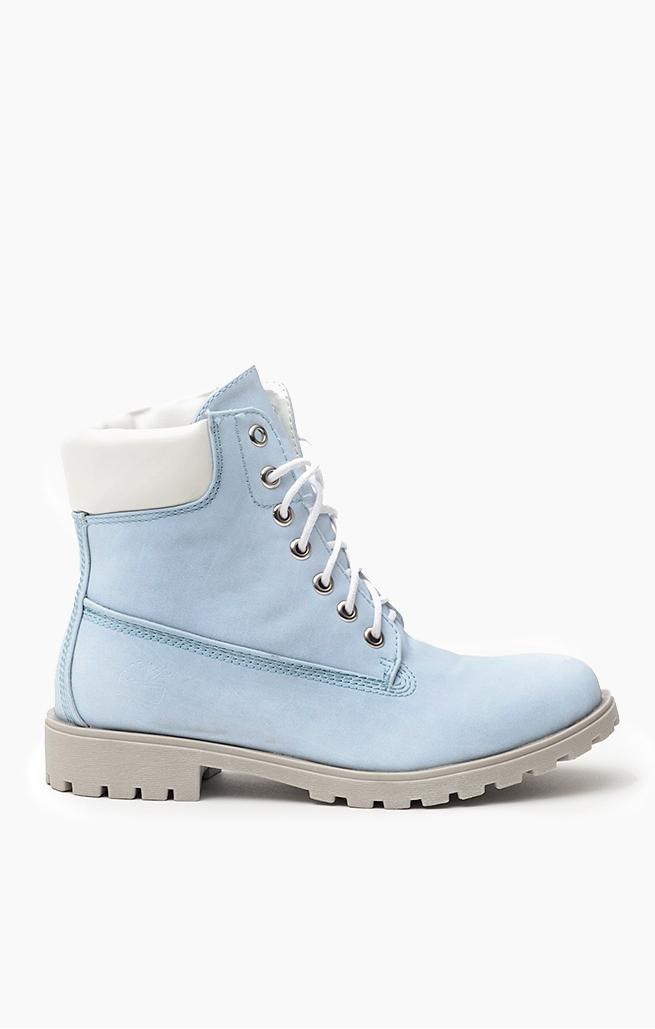 buty baby blue sznurowane