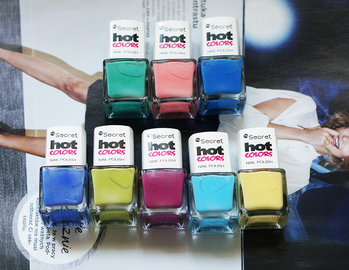 secret lakiery do paznokci hot colors