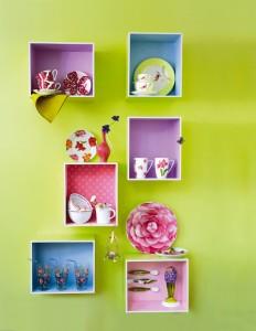 kolorowe półki