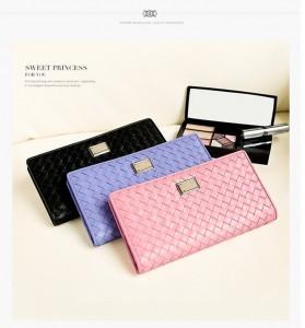pastelowy portfel skórzany