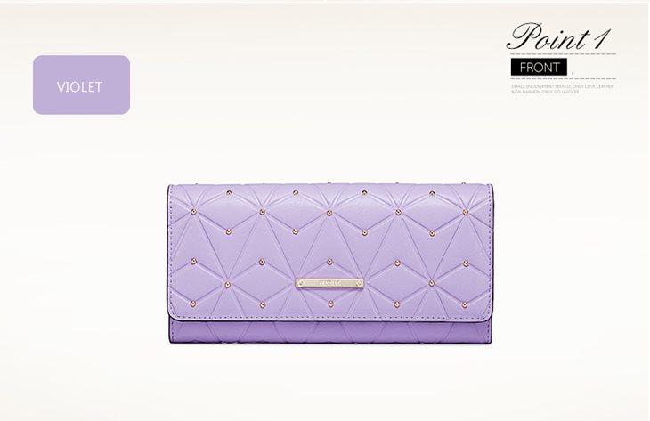 portfel pikowany fioletowy