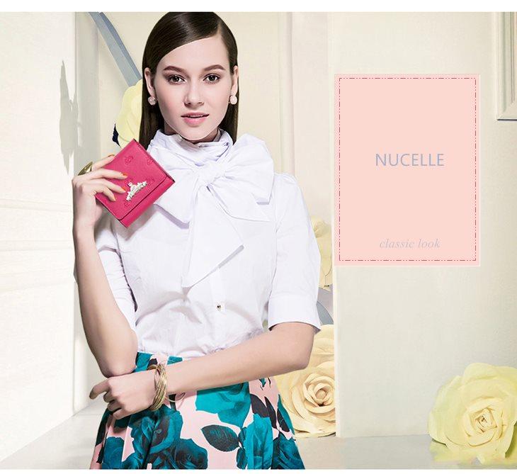 portfel skórzany różowy