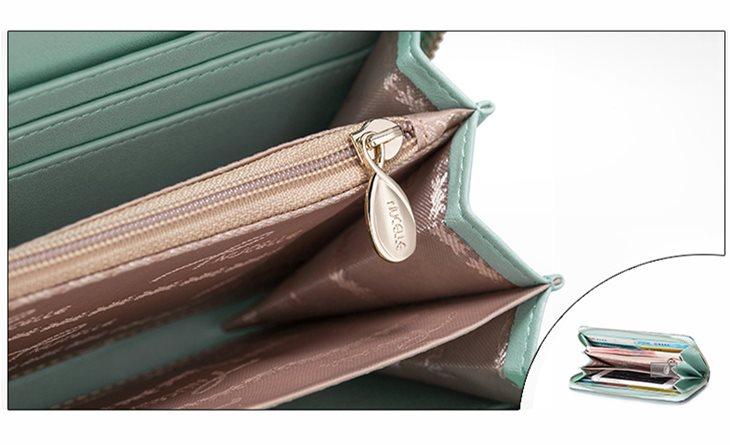 skórzany portfel dla kobiety