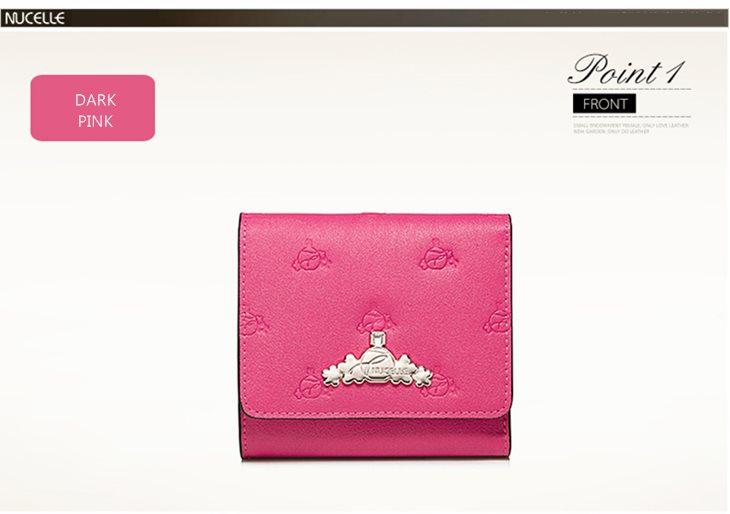 skórzany portfel różowy
