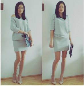 szara sukienka femastage