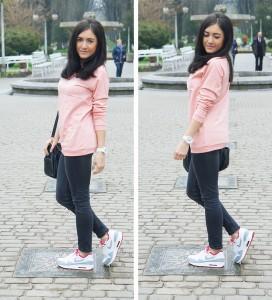 różowa bluza sportowa