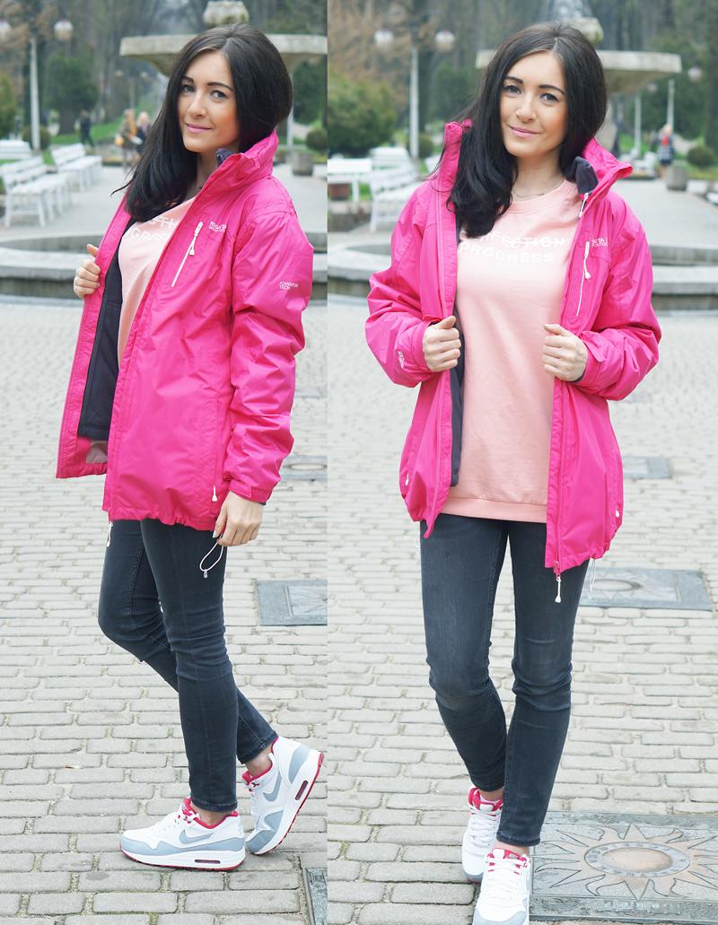 sportowa kurtka różowa