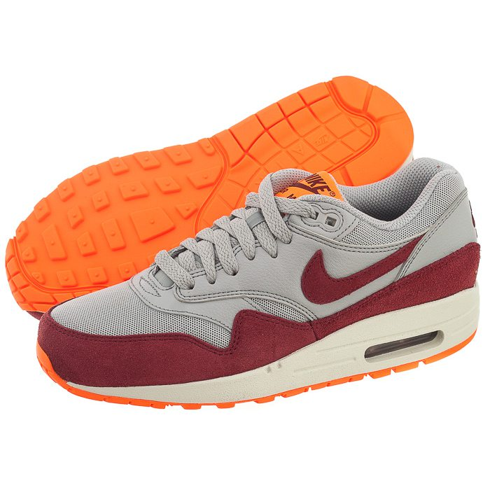 Air Max szare bordowe