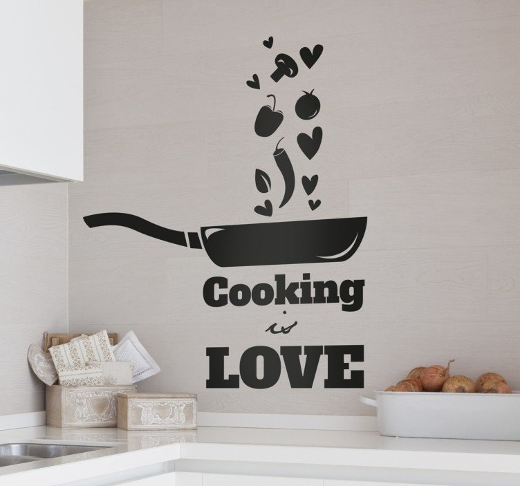 cooking-is-love-naklejka-scienna-9010