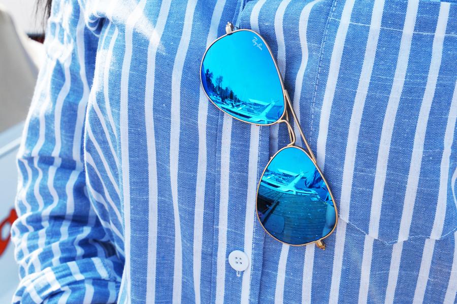 okuary rayban blue