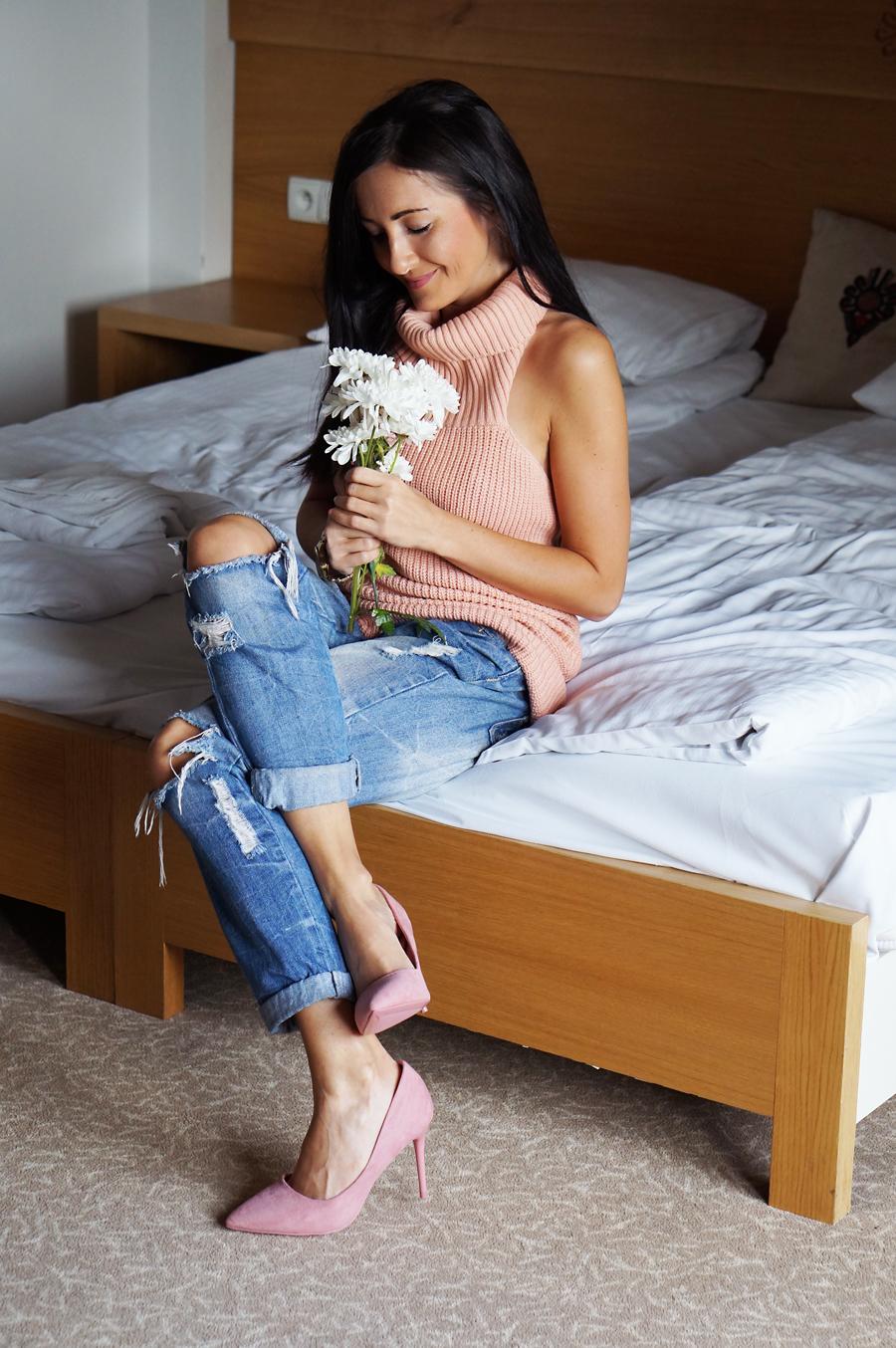 pstylizacja pudrowy roz