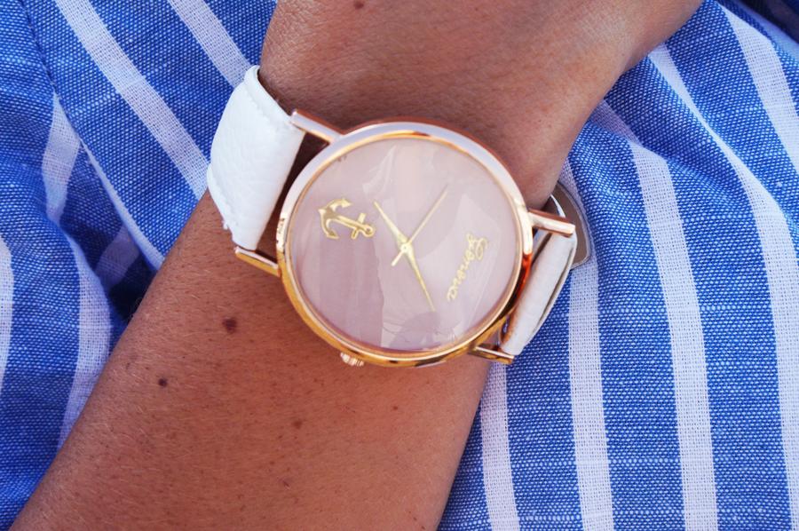 zegarek pudrowy roz geneva