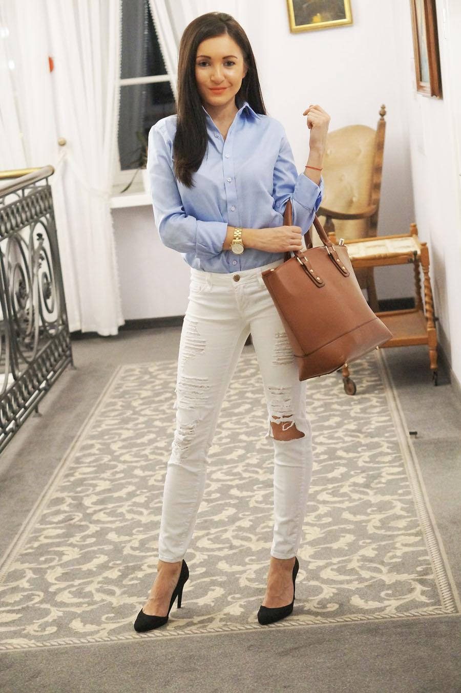 jeansy-biale-dziury