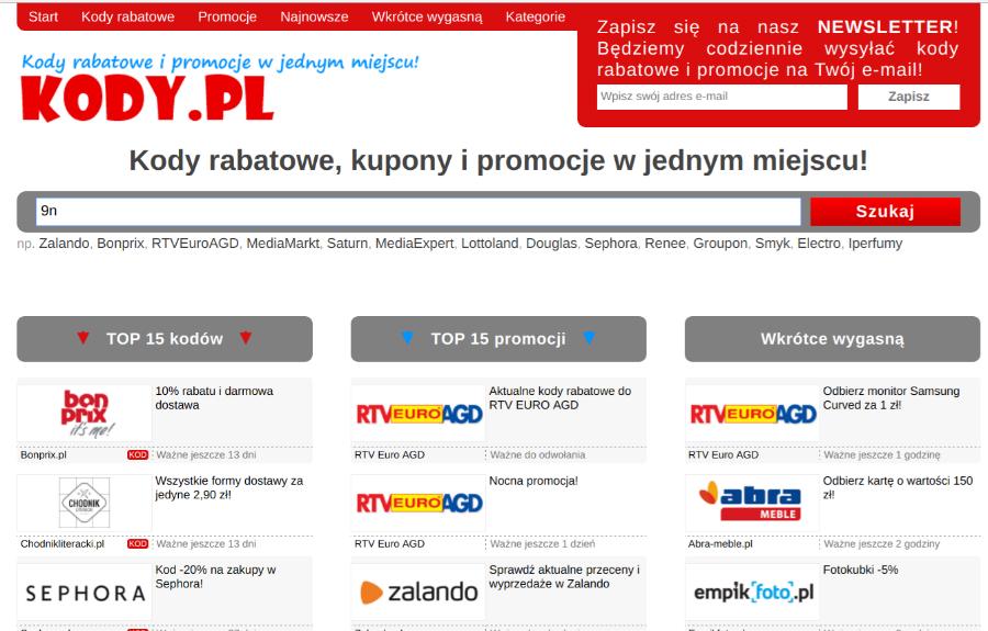 Najlepsze kody rabatowe kody.pl ZAWSZE AKTUALNE