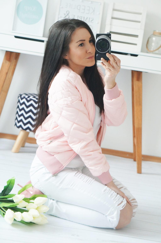 kurtka różowa