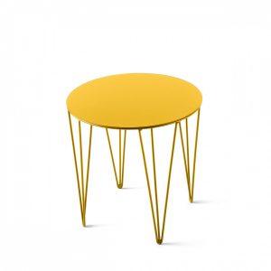 pomysł na prezent do domu stolik żółty