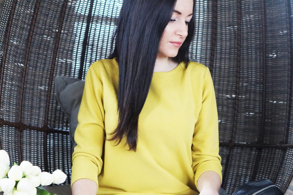 bluzka musztardowa