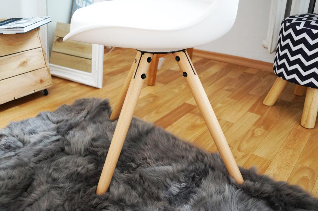 krzesło skandynawskie drewniane nogi