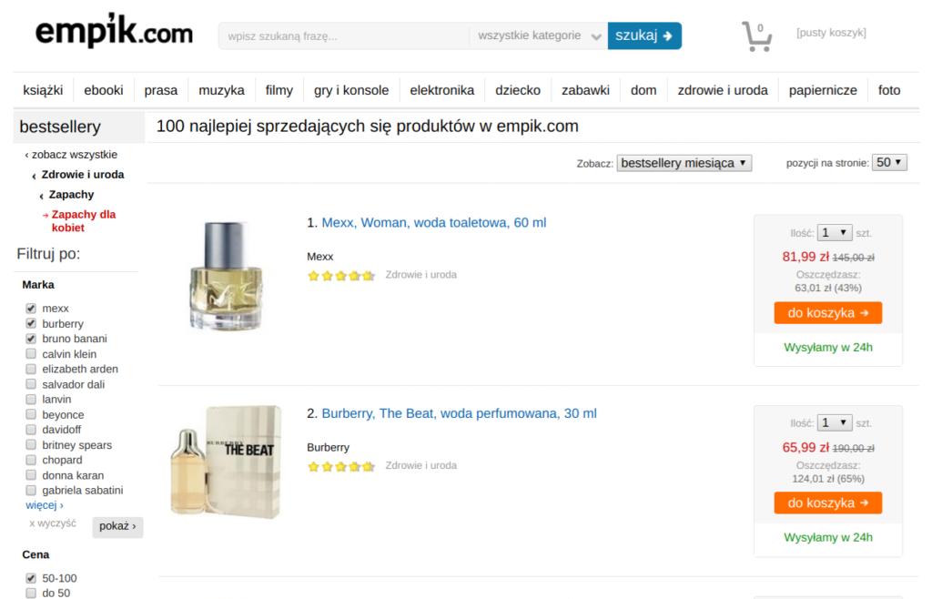 oryginalne tanie perfumy