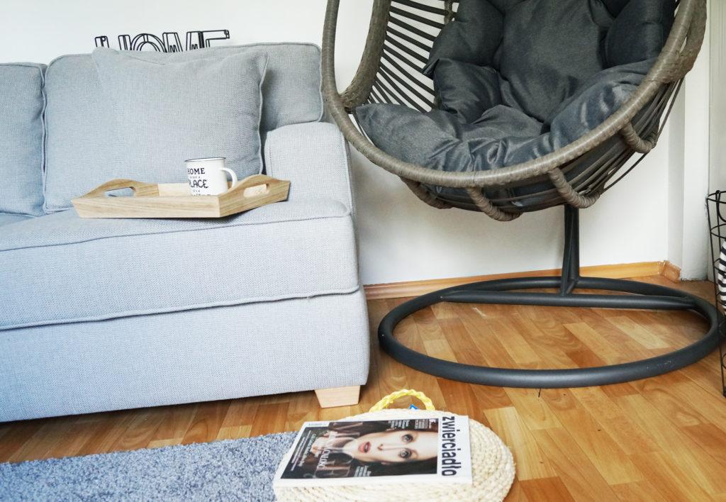 fotel wiszący do pomieszczenia
