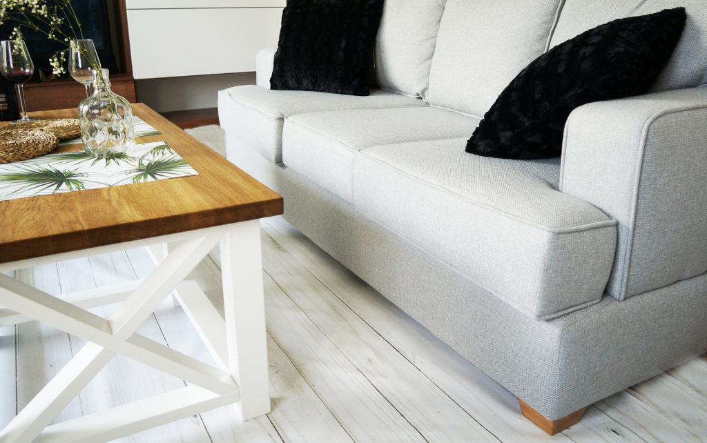 sofa szara z funckją spania
