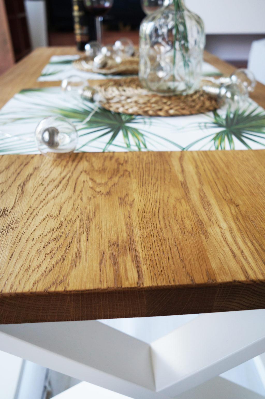 stolik blat szczotkowany