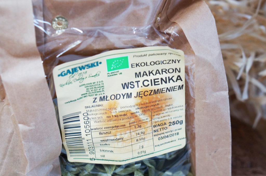 ekologiczny makaron
