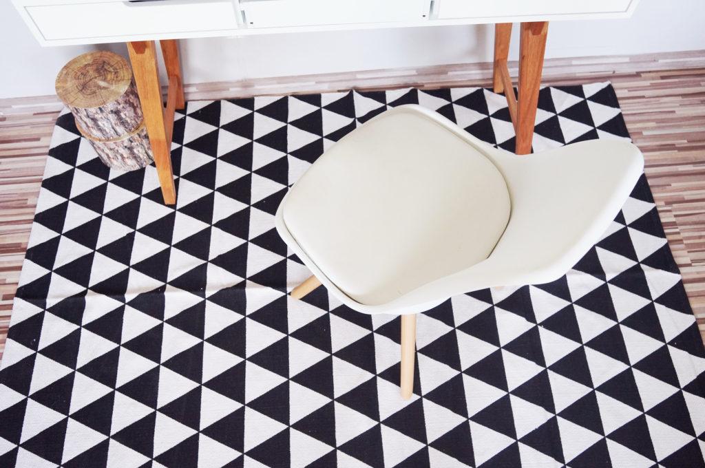 fotel biały skandynawski