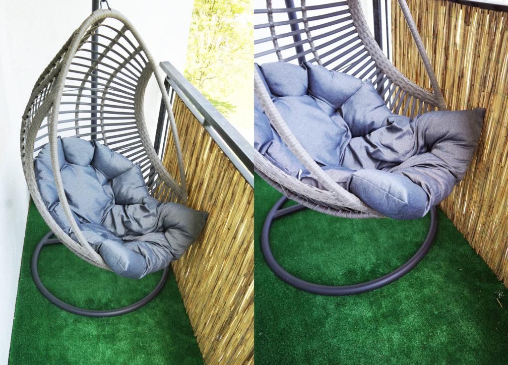 fotel wiszący na balkon