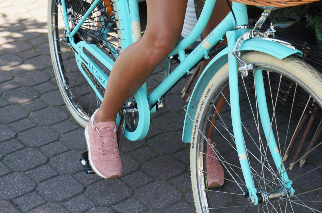 rower miejski miętowy