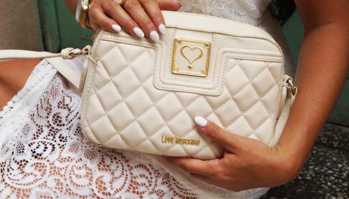 torebka biała love moschino