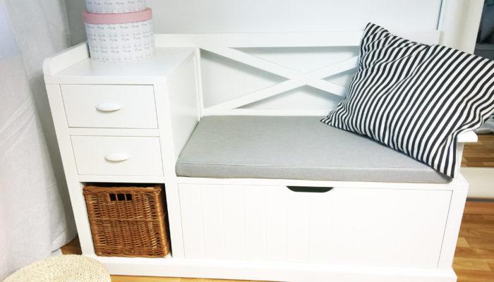 ławka w stylu skandynawskim
